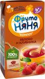 Компот ФрутоНяня Яблоко и клубника 200мл