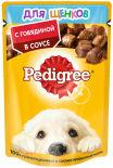 Корм для щенков Pedigree с говядиной в соусе 85г