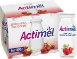 Напиток Actimel Земляника-шиповник 2.5% 100мл