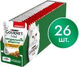 Корм для кошек Purina Gourmet Натуральные рецепты Томленая индейка с горошком 75г