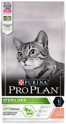 Сухой корм для стерилизованных кошек Pro Plan Optirenal Sterilised с лососем 1.5кг
