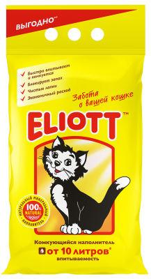 Наполнитель для кошачьего туалета Eliott комкующийся 5кг