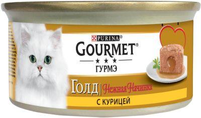Корм для кошек Gourmet Gold Нежная начинка с курицей 85г