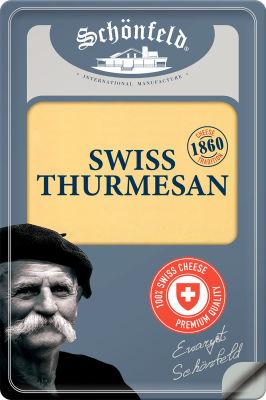 Сыр Schonfeld Swiss Thurmesan нарезка 52% 125г