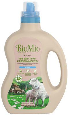 Гель для стирки и пятновыводитель BioMio без запаха 1.5л