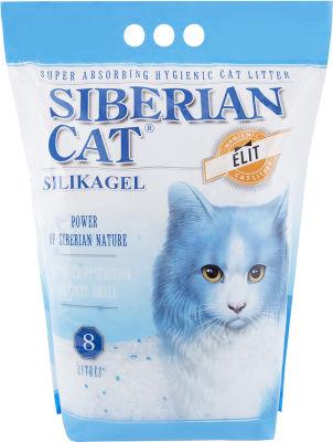 Наполнитель для кошачьего туалета Сибирская кошка Элита силикагель 8л