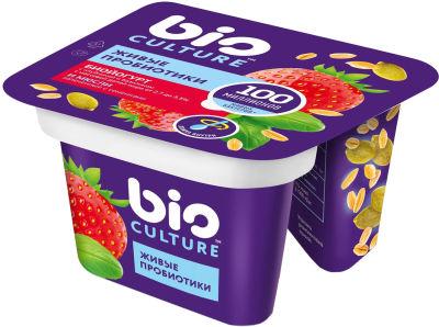 Биойогурт bio Culture Клубника-базилик мюсли 2.7-3.5% 130г