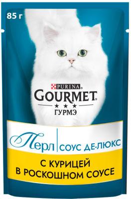 Корм для кошек Gourmet Perle соус делюкс с курицей 85г