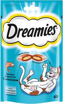 Лакомство для кошек Dreamies с лососем 60г