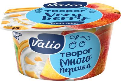 Творог Valio мягкий с персиком 3.5% 140г