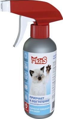 Корректор поведения Ms. Kiss Приучает к когтеточке для кошек 200мл
