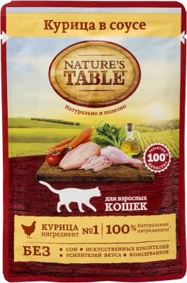 Корм для кошек Natures Table Курица в соусе 85г