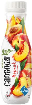 Биойогурт питьевой Слобода  с персиком 260г