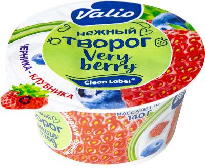 Творог Valio c черникой и клубникой 3.5% 140г
