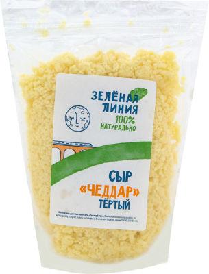Сыр Зеленая Линия Чеддар тертый 50% 200г