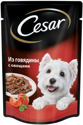 Корм для собак Cesar говядина с овощами в соусе 85г