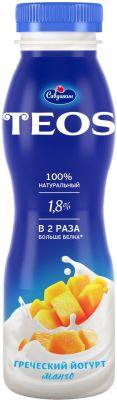 Йогурт питьевой Teos Греческий Манго 1.8% 300г