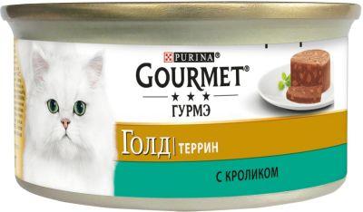 Корм для кошек Gourmet Gold Террин с кроликом 85г