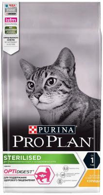 Сухой корм для стерилизованных кошек Pro Plan Optidigest Sterilised с курицей 1.5кг