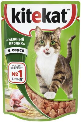 Корм для кошек Kitekat нежный кролик в соусе 85г