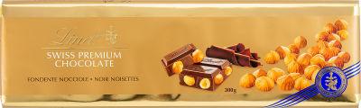 Шоколад Lindt Темный с цельным обжаренным фундуком 300г