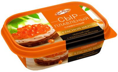 Сыр плавленый Бон Плезир Сливочный с красной икрой 40% 200г
