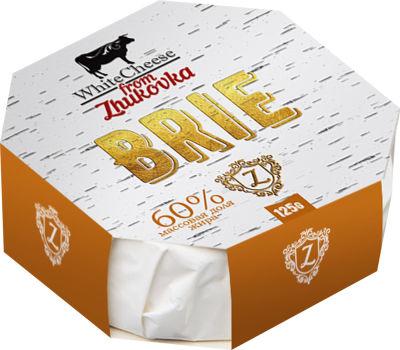Сыр White Cheese from Zhukovka Бри с белой плесенью 50% 125г