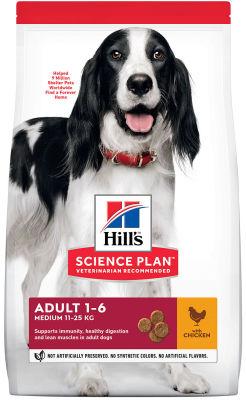 Сухой корм для собак Hills Science Plan Adult Medium для средних пород с курицей 2.5кг
