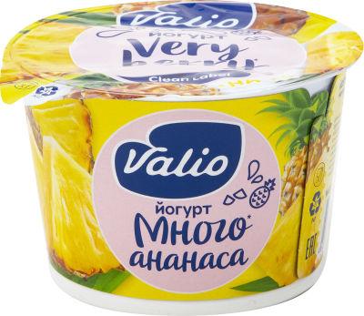 Йогурт Valio Clean Label с ананасом 2.6% 180г
