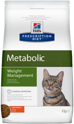 Сухой корм для кошек Hills Prescription Diet Metabolic для снижения и контроля веса с курицей 4кг