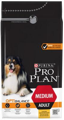 Сухой корм для собак Pro Plan Optibalance Medium Adult для средних пород с курицей 1.5кг