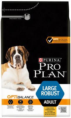 Сухой корм для собак Pro Plan Optibalance Large Robust Adult для крупных пород мощного телосложения с курицей 3кг